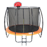 All 4 Kids All 4 Kids 6 Pole Trampoline with Safety Net & Basketball Board
