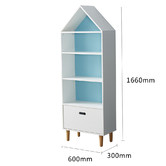 Project Kindy Furniture Marlow White & Blue Bookcase