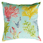 Bungalow Living Aqua Coral Garden Outdoor/Indoor Cushion