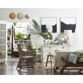 Bungalow Living Indigo Batik Indoor/Outdoor Cushion