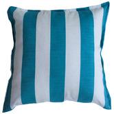 Bungalow Living Aqua & White Stripe Outdoor Cushion