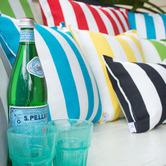 Bungalow Living Blue & White Stripe Outdoor Cushion