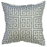 Bungalow Living Grey & White Greek Key Cushion