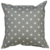 Bungalow Living Grey & White Ikat Spot Outdoor Cushion