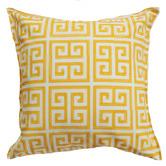 Bungalow Living Yellow & White Greek Key Outdoor Cushion