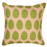 Worldly Treasures Eco-Accents Designs Pine Cone Burlap Pillow