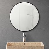 Expert Homewares Black Round Aluminium Wall Mirror with Brackets