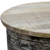 The Decor Store White Wash Industrial Coffee Table