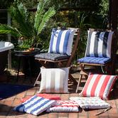 J. Elliot Stripe Rhianne Cotton Chair Pad