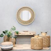 J. Elliot Duke Round Bamboo Wall Mirror