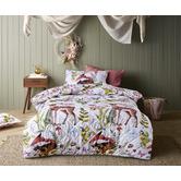 Happy Kids Habitat Quilted Cotton Reversible Quilt Cover Set