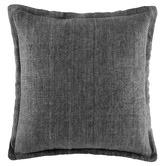 Kas Grey Tailored Linen Cushion