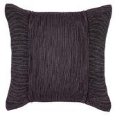 Kas Charcoal Tuxedo Square Cushion