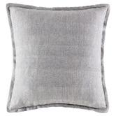 Kas Grey Square Linen Cushion