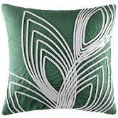 Kas Green Rala Cotton Cushion