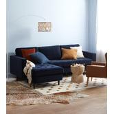 Kas Indigo Tailored Linen Cushion
