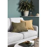 Kas Olive Square Linen Cushion