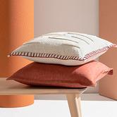 Kas Clay Tailored Linen Cushion