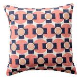 Kas Rose Geo Cotton Cushion