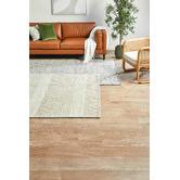 Lifestyle Floors Ivory African-Inspired Flat Weave Wool-Blend Rug
