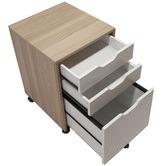 Corner Office Natural & White Carson Mobile Pedestal Cabinet