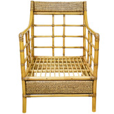 The Medford Collective Jackson Bamboo & Rattan Lounge Chair