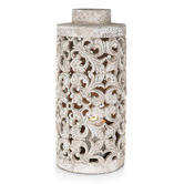 Lifestyle Traders Raw Natural Ornate Candle Pot