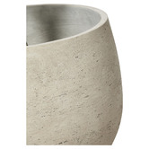 Lifestyle Traders Large White Lime Concrete Plant Pot