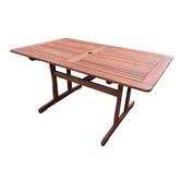 Woodlands Outdoor Furniture Rectangular Shorea Outdoor Table
