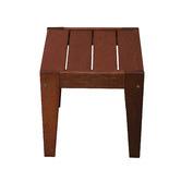 Woodlands Outdoor Furniture Lazio Shorea Wood Outdoor Side Table