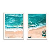 Our Artists' Collection 2 Piece Crystal Blue Printed Wall Art Set