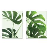 Our Artists' Collection 2 Piece Large Leaves Printed Wall Art Set
