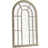 Cast Iron Outdoor Large Garden Arched Window Mirror
