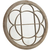Cast Iron Outdoor Sally Round Garden Mirror