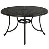 Cast Iron Outdoor Orchis Round Cast Aluminium Outdoor Dining Table