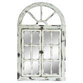 Cast Iron Outdoor Rustic White Scarlett Window Mirror