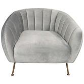 By Designs Asha Velvet Accent Chair