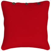 RANS London Buttoned Cotton Cushion Cover