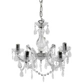 Lucca and Luna Grace Marie Therese 5 Light Chandelier Chrome