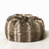 Lucca and Luna Brown Palomino Faux Fur Beanbag Cover