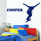 HM Wall Decal Personalised Name and Scooter Stunt Removable Wall Sticker