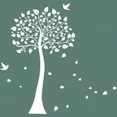 HM Wall Decal Tree and Birds DIY Removable Wall Sticker