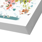 Americanflat Animals World Map Printed Wall Art