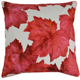 Rovan Red Leaves Cotton Cushion