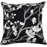 Rovan Black & White Cherry Blossom Lana Cotton Cushion