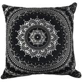 Rovan Black Mandala Lana Cotton Cushion