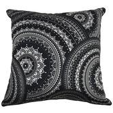 Rovan Black Mandala Kim Cotton Cushion