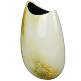 Rovan Medium Ivory Elements Lacquer Flat Vase