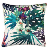 Glamour Paradise White Orchid Flower Outdoor Cushion