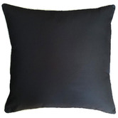 Glamour Paradise Black Plain Piped Outdoor Cushion